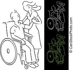 ανάπηρος , αναπηρική καρέκλα , άντραs