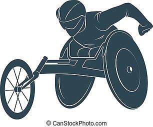 ανάπηρος , αναπηρική καρέκλα , paralympic