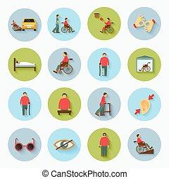 ανάπηρος , διαμέρισμα , θέτω , απεικόνιση