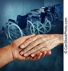ανάπηρος , ηλικιωμένος