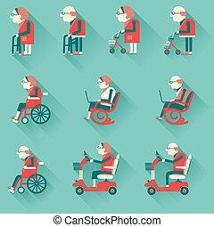 ανάπηρος , ιατρικός , equipments.vector, νοσοκομείο ,...