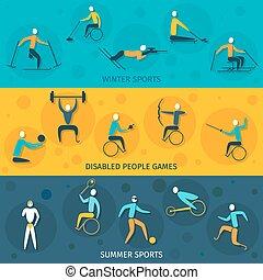 ανάπηρος , σημαίες , αθλητισμός