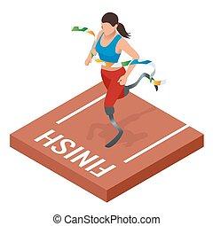 ανάπηρος , isometric , δρόμος με εμπόδεια , αθλητής ,...