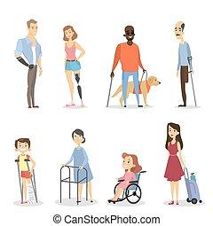 ανάπηρος , set., άνθρωποι