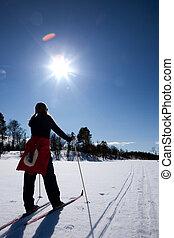 ανάποδος άκρη γηπέδου κάνω σκι