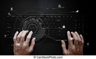 ανάπτυξη , ιστός , εργαζόμενος , χέρι , ηλεκτρονικός εγκέφαλος προγραμματιστής , keyboard., τεχνολογία , λογισμικό