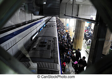 ανήκων στο δημόσιο εκτόπιση , υπόγεια διάβαση , - , κίνα , beijing