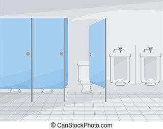 ανήκων στο δημόσιο restroom