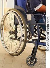 ανήρ αναμμένος ανάλογα με wheelchair
