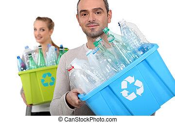 ανήρ και γυναίκα , ανακύκλωση , αγαλματώδης δέμα