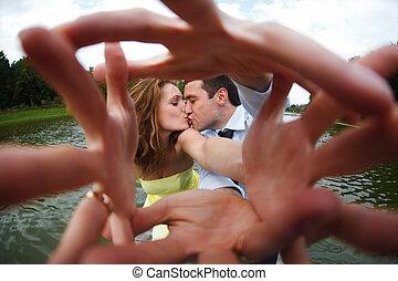 ανήρ και γυναίκα , φιλί , αγγίζω , δικό τουs , ανάμιξη ακάλυπτος , αναφορικά σε άρθρο κάμερα