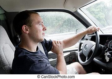 ανήρ οδηγώ