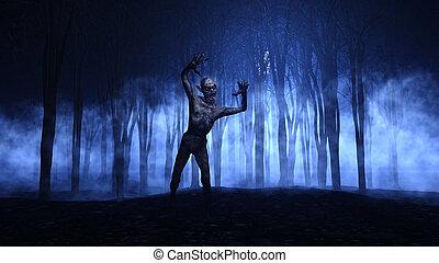 αναδύομαι , παραμονή αγίων πάντων , ζόμπι , δάσοs , φόντο ,...
