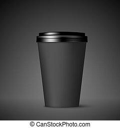 ανακριτού. , καφέs , lid., κύπελο , απομονωμένος , εικόνα ,...