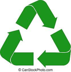 ανακυκλώνω , άσπρο , σήμα
