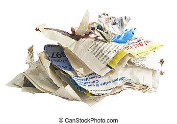ανακυκλώνω , άσπρο , χαρτί
