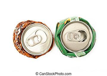 ανακυκλώνω , αγαθός φόντο , cans , αλουμίνιο