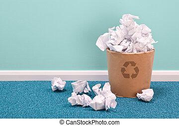 ανακυκλώνω , ακαλλιέργητος αξίες καλάθι , επάνω , γραφείο ,...