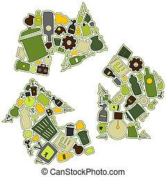 ανακυκλώνω , απεικόνιση
