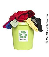 ανακυκλώνω δοχείο , με , ρούχα