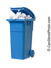 ανακυκλώνω δοχείο , με , χαρτί