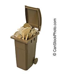 ανακυκλώνω δοχείο , με , χαρτόνι , χαρτί