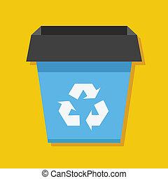ανακυκλώνω δοχείο , μικροβιοφορέας , εικόνα