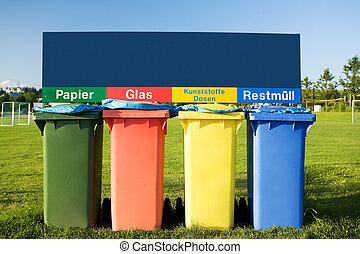 ανακυκλώνω δοχείο , σκουπίδια , σκουπίδια