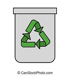 ανακυκλώνω δοχείο , σπατάλη , απομονωμένος , εικόνα