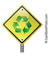 ανακυκλώνω , κίτρινο