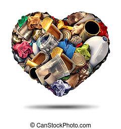 ανακυκλώνω , καρδιά