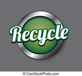ανακυκλώνω , κουμπί