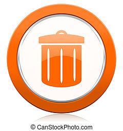 ανακυκλώνω , πορτοκάλι , εικόνα , ανακυκλώνω δοχείο , σήμα