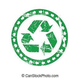 ανακυκλώνω , σήμα , μικροβιοφορέας