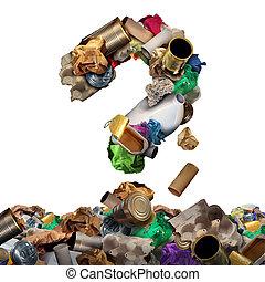 ανακυκλώνω , σκουπίδια , ερώτηση