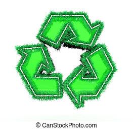 ανακυκλώνω σύμβολο , αγαθός φόντο , 3d