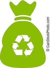 ανακυκλώνω , τσάντα , σπατάλη , μικροβιοφορέας , εικόνα