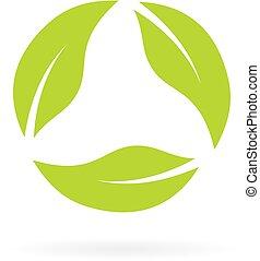 ανακύκλωσα , φύλλα , εικόνα