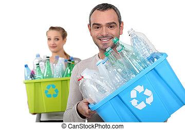 ανακύκλωση , αγαλματώδης δέμα