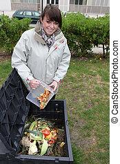 ανακύκλωση , αναμμένος άρθρο ασχολούμαι με κηπουρική