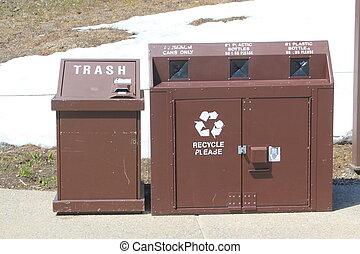 ανακύκλωση , δημόσιο , δοχείο