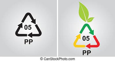 ανακύκλωση , κρυπτογράφημα , polypropylen
