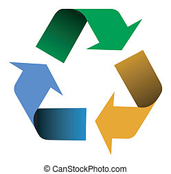ανακύκλωση , μπογιά , βέλος