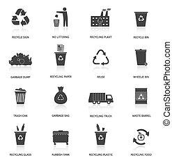 ανακύκλωση , σκουπίδια , απεικόνιση , θέτω