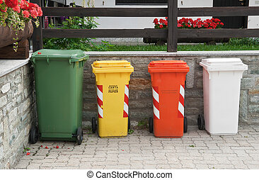 ανακύκλωση , σκουπίδια , δοχείο