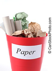 ανακύκλωση , bin-, χαρτί
