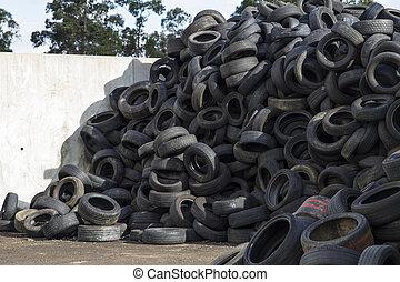 ανακύκλωση , industry., ελαστικά , recycling.