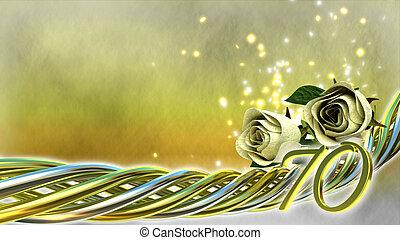 αναλαμπή , τριαντάφυλλο , γενική ιδέα , γενέθλια