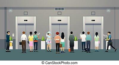 αναμονή , ανελκυστήρας