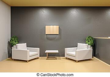 αναμονή , δυο , chairs., δωμάτιο , ακαταλαβίστικος
